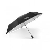 Audi Taschenschirm Regenschirm Schirm schwarz silber klein