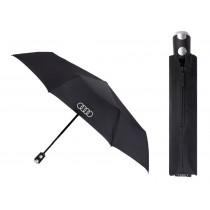 Audi Taschenschirm Regenschirm Schirm Knirps Audi Ringe groß schwarz 3121900200