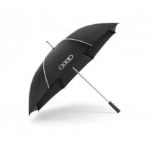 Audi Stockschirm Regenschirm Schirm Audi Ringe schwarz/silber groß