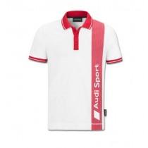Audi Sport Poloshirt Herren weiß / rot