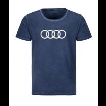 Audi Herren T-Shirt blau Audi Ringe Gr. S M L XL XXL