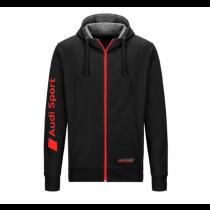 Audi Sport Sweatjacke Jacke Pulli Pullover Herren schwarz S M L XL XXL XXXL
