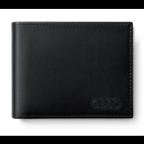 Audi Geldbörse Portemonnaie Minibörse Geldbeutel Leder schwarz - 3151900400