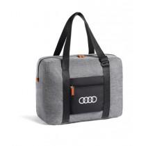 Audi Tasche Einkaufstasche Falttasche Reisetasche faltbar hellgrau