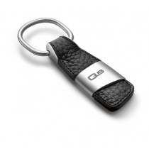 Audi Q8 Schlüsselanhänger Leder schwarz silber