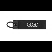 Audi Schlüsselanhänger Ringe 3D-Print schwarz 3182000200