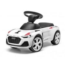 Audi Junior quattro Rutscheauto Kinder weiß mit LED Beleuchtung