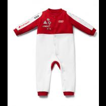 Audi Sport Strampler Stampelanzug Rennanzug Baby Body Racing weiß / rot