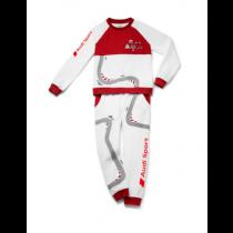 Audi Sport Schlafanzug Racing Kleinkinder Kinder Rennfahrer weiß / rot