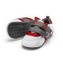 Audi Sport Baby Schühchen Schuhe Laufschuhe Gr. 17-18 weiß/grau/rot - 3201900900
