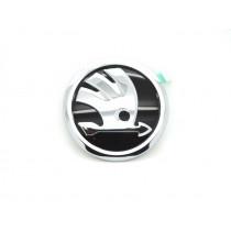 Original Skoda Emblem Logo Zeichen Kühlergrill schwarz / chrom 3V0853621A FOD