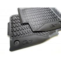 Original Audi Q7 4M Gummimatten Gummifußmatten Fußmatten vorn + hinten schwarz