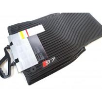 Original Audi S7 Sportback Gummimatten Gummifußmatten vorne schwarz