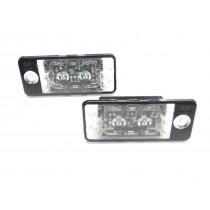 Original Audi A4 / A6 4F LED Kennzeichenbeleuchtung Kennzeichenleuchten