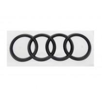 Original Audi Ringe Emblem Schriftzug Logo Heckklappe schwarz glänzend