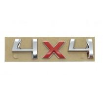Original Skoda 4x4 Schriftzug Emblem Logo chrom rot selbstklebend