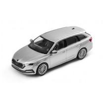 Skoda Octavia Combi (A8) Modellauto Miniatur 1:43 Brilliant Silber