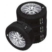 Petex Rädertaschen Reifentaschen Premium 4-teilig schwarz 14-18 Zoll