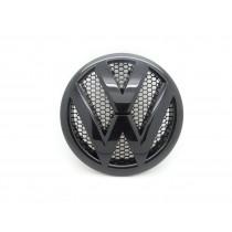 Original VW T5 Emblem Logo Zeichen Kühlergrill schwarz glänzend