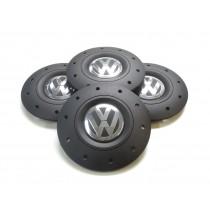 4x Original VW T5 T6 Amarok Radkappe Nabendeckel für Stahlfelge
