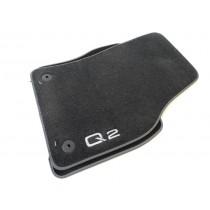 Original Audi Q2 Stoffmatten Textilfußmatten Premium vorne