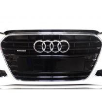 Original Audi A4 S4 8K B8 Kühlergrill schwarz glänzend quattro
