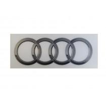 Original Audi Aufkleber Ringe Emblem Logo selbstklebend