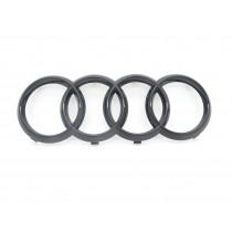 Original Audi Ringe A1 A3 A4 A5 A6 A7 Emblem Zeichen Logo Kühlergrill schwarz