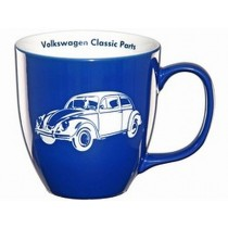 VW Käfer Tasse Kaffeebecher blau