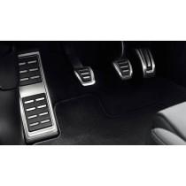 Original Audi A3 8V / TT 8S Edelstahl Pedalkappen mit Fußstütze
