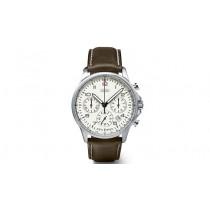 Audi Herrenuhr Uhr Chronograph Luminous braun / weiß Edelstahl