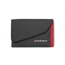 Audi Sport Portemonnaie Geldbörse mit Klettverschluss schwarz