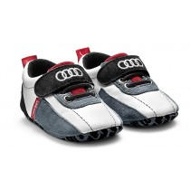 Audi Sport Baby Schühchen Schuhe Gr. 17-18 schwarz/weiß/rot