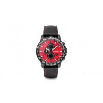 Audi Sport Chronograph Armbanduhr Uhr Edelstahl rot / schwarz