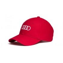 Audi Baseballcap Cap Kappe Mütze Ringe Unisex rot