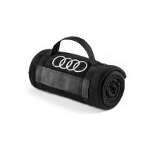 Audi Fleecedecke Decke schwarz Audi Ringe 180 x 130 cm