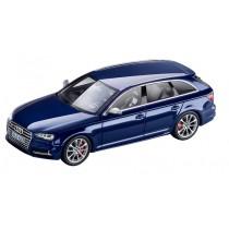 Audi S4 Avant Modellauto 1:43 Navarrablau Blau limitierte Auflage