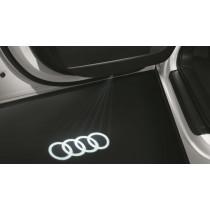 Original Audi A4 A5 A6 A7 Q5 Q7 Einstiegs-LED Einstiegsleuchten Einstiegsbeleuchtung Audi Ringe