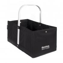 Skoda Einkaufskorb Gepäckkorb Faltbox Kofferraumbox schwarz 30 cm