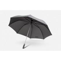 """Skoda Automatik Regenschirm Stockschirm Umbrella """"Simply Clever"""" grau 127 cm"""