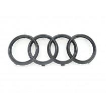 Original Audi Ringe A8 4N Emblem Schriftzug Zeichen Logo Kühlergrill schwarz