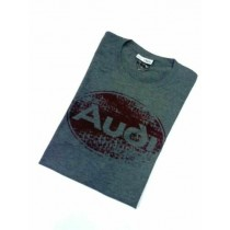 Audi Oval Tradition T-Shirt Herren dunkelgrau Gr. M, L, XL