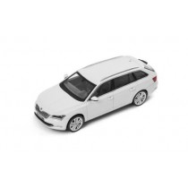 Details zu  Skoda Superb Combi III Modellauto Miniatur 1:43 Moon-Weiß Metallic MVF65-800