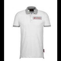 Audi Poloshirt Shirt Herren weiß grau Audi Ringe Größe: S, M, L, XL, XXL