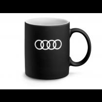Audi Ringe Tasse Becher Kaffeetasse Kaffeebecher schwarz matt - 3291900500