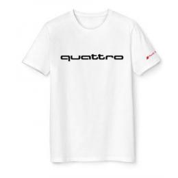 Audi quattro T-Shirt Herren weiß