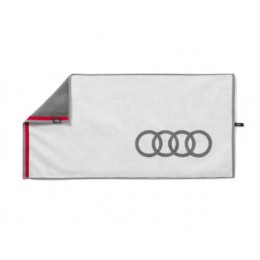 Audi Handtuch Badetuch Strandlaken Badehandtuch weiß/grau 80x150cm