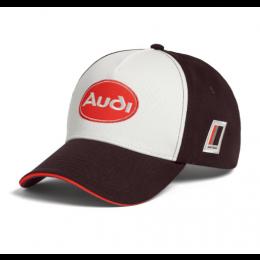 Audi heritage Cap Premium Baseballcap Kappe Mütze Ringe Unisex braun 3132000600