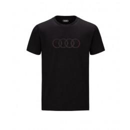 Audi Herren T-Shirt schwarz Audi Ringe