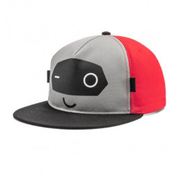 Audi Cap ADUI Kinder Baseballcap Baseballkappe Mütze grau/rot